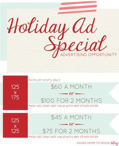holiday ad special on going home to roost!