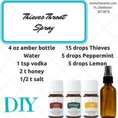 DIY Thieves Throat Spray