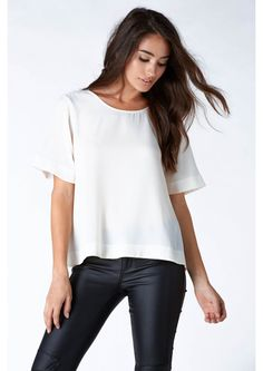 The Extra Mile Short Sleeve Top in Ivory   Necessary Clothing