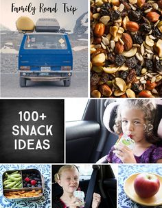 Family Road Tip: 100+ kid-Friendly Snack Ideas *Great travel resource for parents