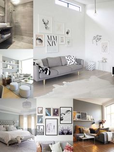 gray toned living rooms and sofas