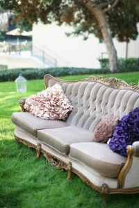 vintage sofa rental through Archive Vintage Rentals