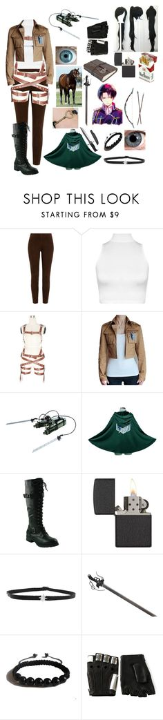 """""""Windle Eien OC attack on Titan"""" by winternightfrostbite ❤ liked on Polyvore featuring Ralph Lauren Black Label, WearAll, Zippo, Shay, Bow & Arrow, Akiko, Shamballa Jewels and Majesty Black"""