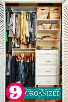 9 Ways To Achieve Closet Organization
