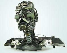 Type machine sculptures by Jeremy Mayer