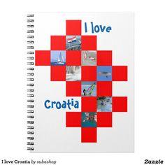 Croatia, Kroatie, gadgets, produkten, souvenirs, I love Croatia,  Ringband Notitie Boek