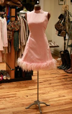 flirty retro frock in petal pink
