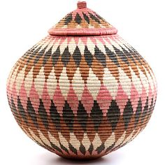 Depending On The Type Of Lid These African Baskets Have They Are Referred To As Either Ukhambas Or Isichumo Each Zulu Basket Is Handcrafted From Ilala
