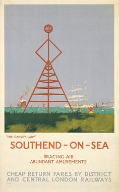 Southend-on-Sea- the Canvey Lady, by Charles Pears, 1926