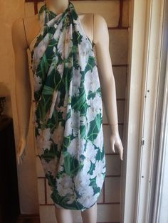 Sarong cover upswim cover upgreen patterned by feltyhome on Etsy