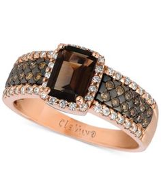 LeVian Jewelry, LeVian Smoky Quartz Chocolate and White Diamonds Cocktail Diamond Jewelry, Gold Jewelry, Jewelry Rings, Fine Jewelry, Jewlery, Gemstone Jewelry, Chocolate Rings, Chocolate Chocolate, Chocolate Dreams