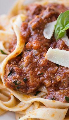 Fettucini in Sausage Bolognese Sauce