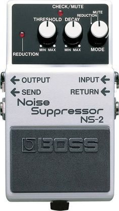 "A ""MUST-HAVE"" PEDAL! The Noise Suppressor eliminates unwanted noise and hum without altering an instrument's natural tone. It's the perfect pedal to quiet down any pedalboard or effects setup. Guitar Multi Effects, Guitar Effects Pedals, Guitar Pedals, Guitar Rig, Guitar Shop, Boss Effects, Heavy Metal, Boss Pedals, Pedalboard"