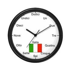 You can start learning Italian travel expressions by studying the numbers on this clock!                                                                                                                                                                                 Más