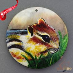 HAND PAINTED BRADYPOD NATURAL MOTHER OF PEARL SHELL DIY PENDANT ZH30 00097 #ZL #PENDANT