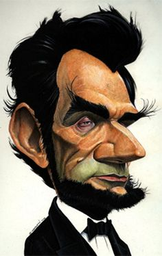 The Best caricature of Abraham Lincoln Caricature Artist, Caricature Drawing, Funny Caricatures, Celebrity Caricatures, Cartoon Faces, Funny Faces, Abraham Lincoln, Wow Art, Funny Art