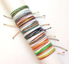 Kids string bracelet. Children's adjustable bracelet.