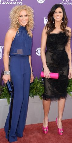 Kimberly Schlapman and Karen Fairchild of Little Big Town arrives at the 48th Annual Academy of Country Music Awards ♥✤ | Keep the Glamour | BeStayBeautiful