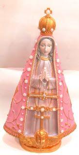 Ateliê Le Mimo: RELIGIOSO Nossa Senhora Aparecida estilizada - peça em gesso