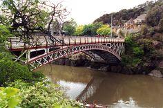 Bridgepixing King's Bridge, built in 1863-1903, at the entrance to the Cataract Gorge, Launceston, Tasmania. We