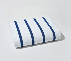 Wider than a twin bed, decked in Breton-chic stripes, and so plush you might just fall asleep on it: our luxury-sized beach towels have a lot going for them.