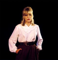"""Marianne Faithfull in the music video for """"The Ballad Of Lucy Jordan"""" Ballad Of Lucy Jordan, Marianne Faithfull, Music Videos, Singer, Blouse, Long Sleeve, Sleeves, Tops, Women"""