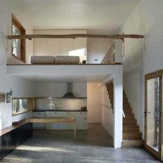 Loft Mezzanine, Mezzanine Design, Mezzanine Bedroom, Loft Staircase, Loft Design, Bedroom Loft, Staircase Design, House Design, Cozy Bedroom