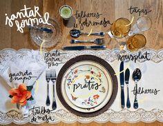 Blog OMG I'm Engaged - Como montar uma Mesa de Jantar formal.