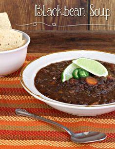 Blackbean Soup #soup #blackbeans #Clean