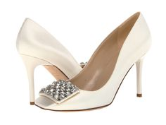 Kate Spade New York Happy Ivory Satin/Clear Stones - 6pm.com
