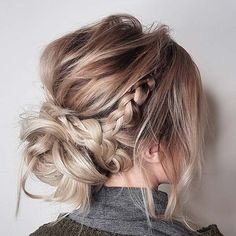 Bun and Small Braid for Beautiful Braided Updos