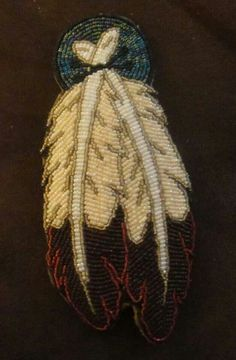 Feather beadwork