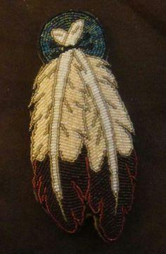Feather beadwork