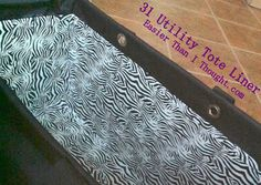 Easier Than I Thought: 31 Gifts Utility Tote Liner - A different approach