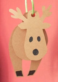 Paper reindeer, Christmas preschool craft