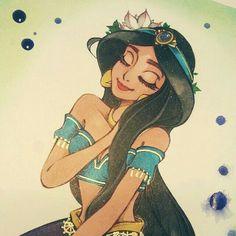 Jasmine disney, aladdin and jasmine, disney fan art, princess jasmine a Aladin Disney, Princesa Disney Jasmine, Aladdin Et Jasmine, Disney Princess Jasmine, Disney Princess Art, Princess Jasmine Tattoo, Princess Jasmine Cosplay, Jasmine Jasmine, Princess Tattoo