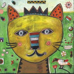 "Jill Mayberg – Square Print ""Cat Freya"" | Greenleaf Gallery"