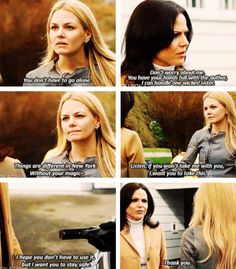 """Emma and Regina - 4 * 18 """"Sympathy for the De Vil"""". Man how sexy would that be?! Regina with a gun."""