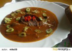Pikantní vepřové srdce na česneku recept - TopRecepty.cz Thai Red Curry, Ethnic Recipes, Food, Essen, Meals, Yemek, Eten