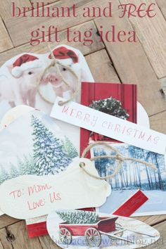 This is such a great idea!  No need to purchase gift tags ever again!