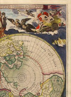 Mortier Poles 6. Древние карты мира в высоком разрешении - Старинные карты