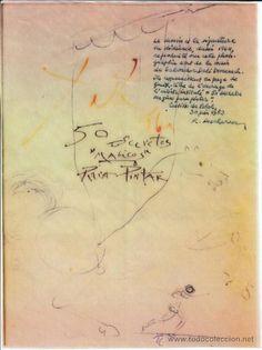 Dibujo certificado de Salvador Dalí en todocoleccion.