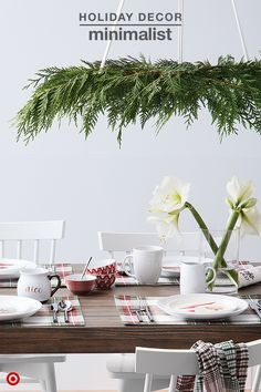 Set your holiday table in style with classic plaids and crisp white dinnerware. Add playful touches by layering on Christmas character plates. Next up, mix and match dipping bowls. Available in a variety of patterns, they are the perfect size for condiments and snacks. And, bring the whole look together with traditional plants and greenery. Amaryllis and evergreen trimmings will look great and smell even better.
