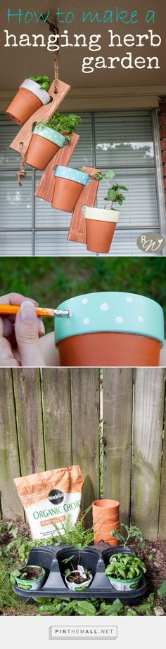 How to make a hanging herb garden | therusticwillow.com