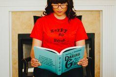 HapPy gO Read t-shirt. HapPy gO SmiLe, Cayucos, Ca.