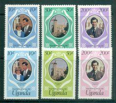 Uganda 1981 Charles & Diana Royal Wedding reprint MUH lot81876