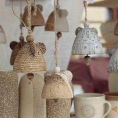 by adela volna Ceramic Christmas Decorations, Xmas Decorations, Interior Design Living Room, Living Room Decor, Bedroom Decor, Ceramic Pottery, Ceramic Art, Ceramic Angels, Angel Crafts