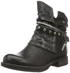 Tom Tailor Damen 1695612 Biker Boots, Schwarz (Black), 36…