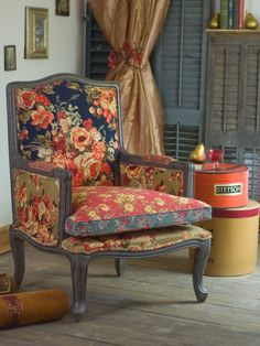 Gray shutters...Vintage Harvest Armchair   Home Decor, Furniture - New! :Beautiful Designs by April Cornell