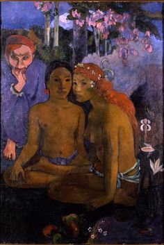 Paul Gauguin, 1902, Barbarian Tales, oil on canvas.